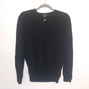 Vintage Men's black J.Crew V neck Sweater